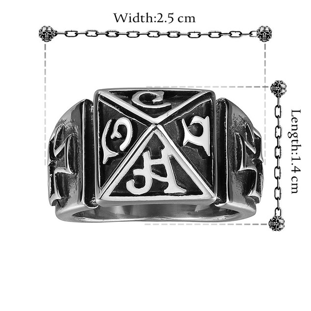 Ancient Aarmaic Stainless Steel Ring