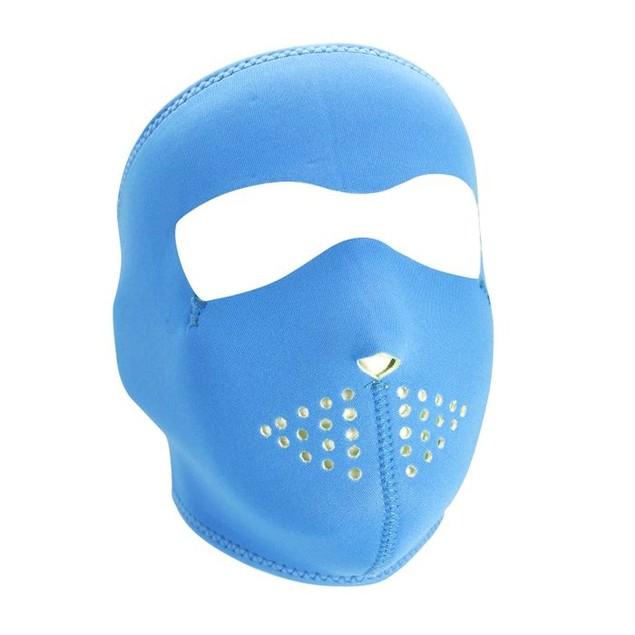 Neoprene Full Mask - Neon Blue Reverses to Lime
