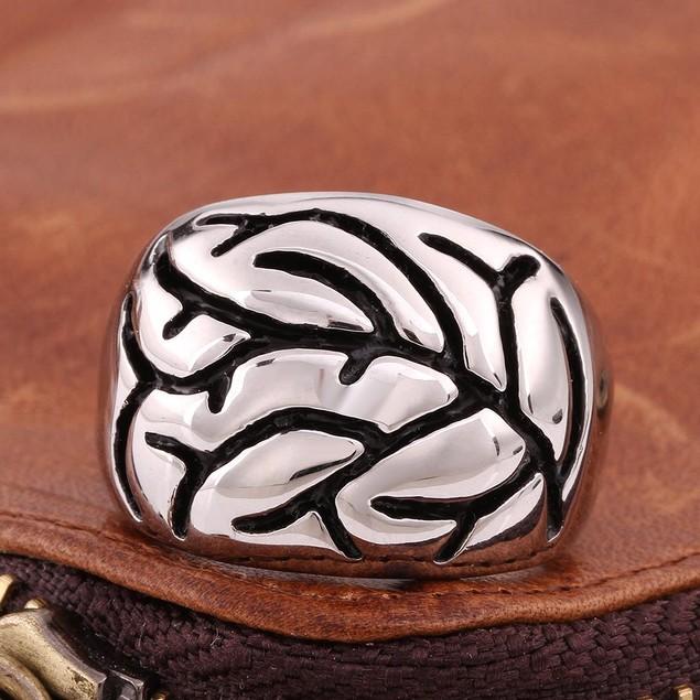 Tree Branch Stainless Steel Skull Ring