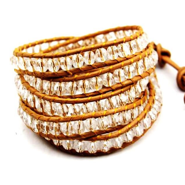 Topaz Crystal Wrap Bracelet