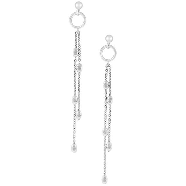 Sterling Silver Ball Drop Dangle Post Earrings