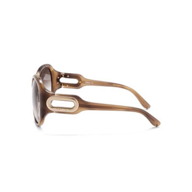 Chloe Paraty Fashion Sunglasses - Light Brown Horn