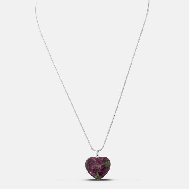 22 Inch Floral Natural Heart Necklace