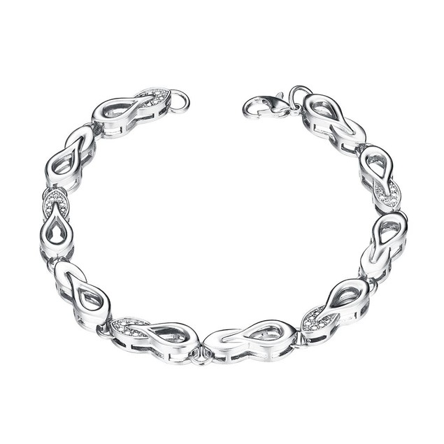 White Gold Plated Sisters Make the Best Friends Bracelet
