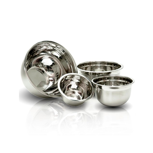 4-Piece Set of Stainless Steel Mixing Bowls