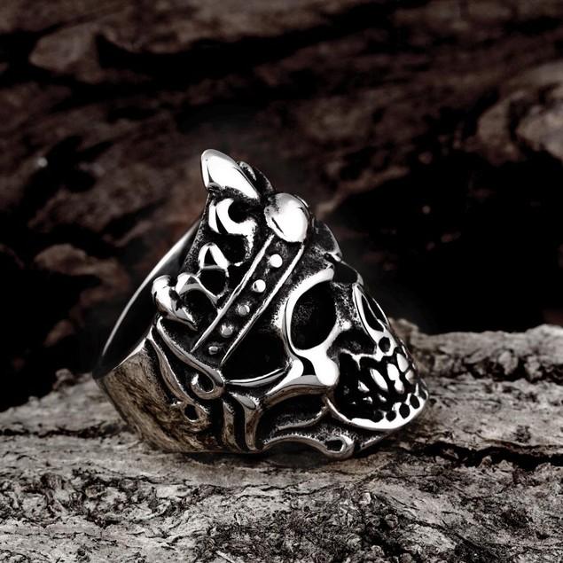 Stainless Steel Skull King Ring