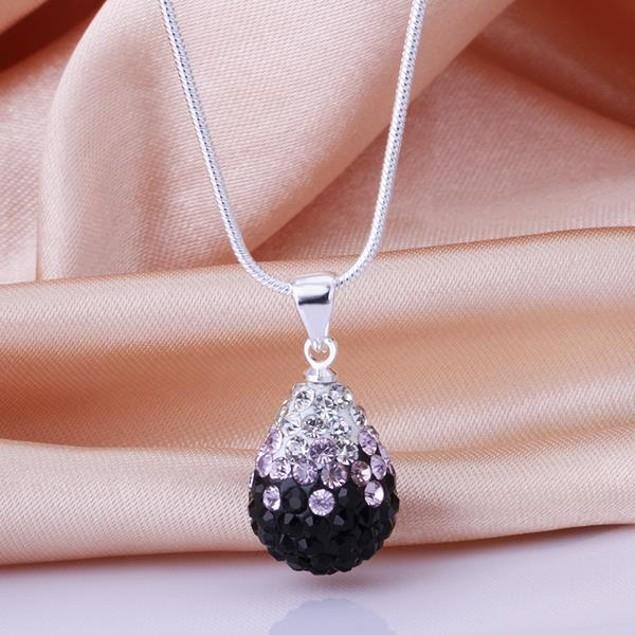 Classic Austrian Stone Necklace - Sharp Onyx
