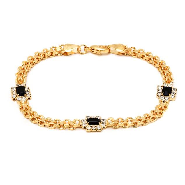 18K Onyx Crystal Bracelet