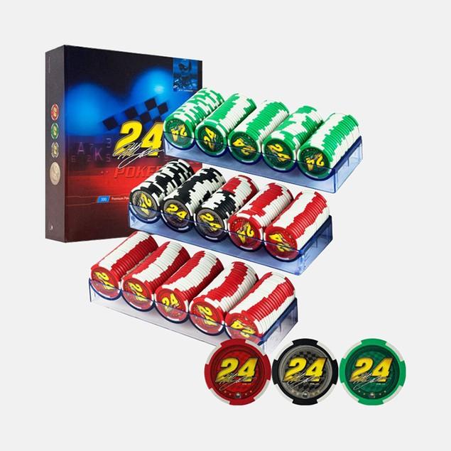 Jeff Gordon NASCAR 300 Premium Poker Chip Set