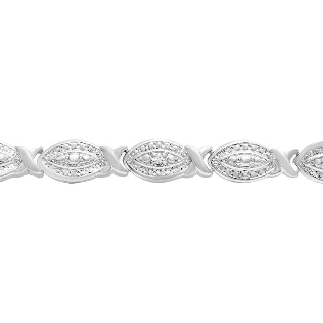 Diamond Accent Hugs and Kisses Bracelet
