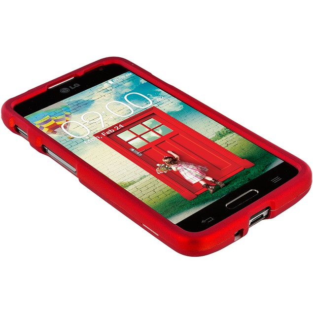 LG Optimus L70 Hard Rubberized Case Cover