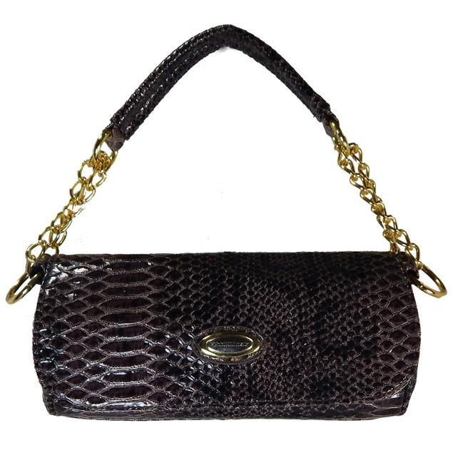 Vecceli Italy Snake Clutch Bag + Free Earring Stud Set