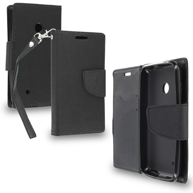Nokia Lumia 530 Wallet Flip Pouch TPU Case Cover