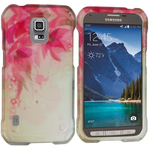 Samsung Galaxy S5 Active Hard Rubberized Design Case Cover