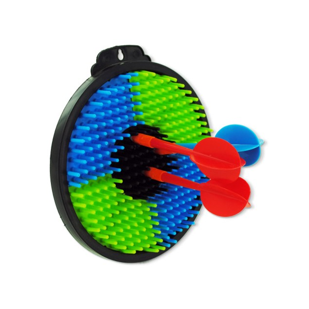 Plastic toy dartboard