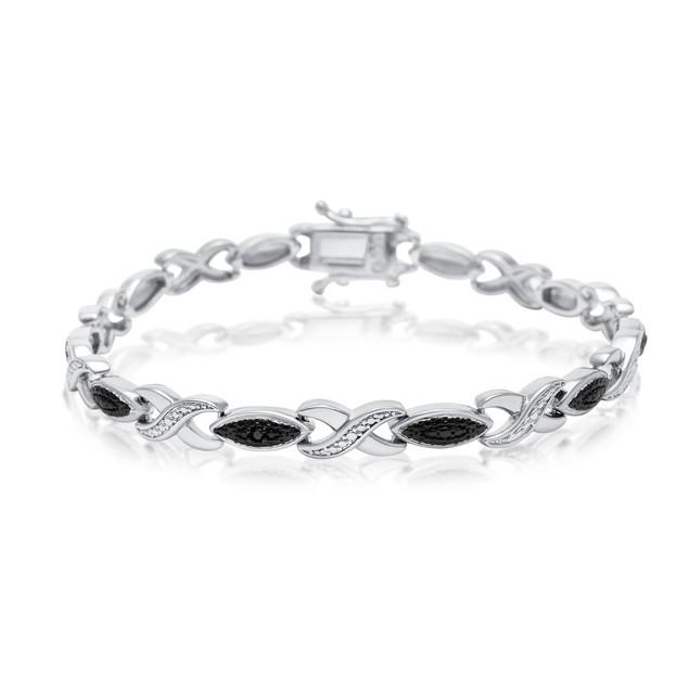Black Diamond Accent XO Bracelet