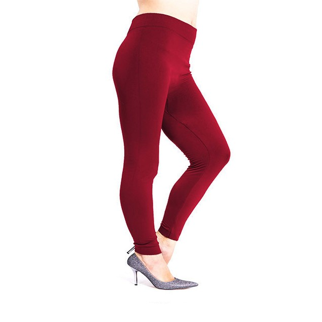 2-Pack Women's Plus Size Fleece Lined Leggings