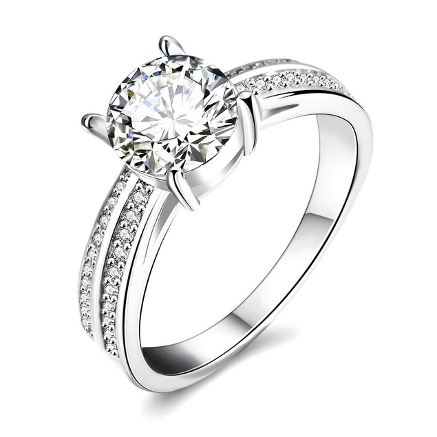 White Gold Plated Madison Ave Inspired Ring