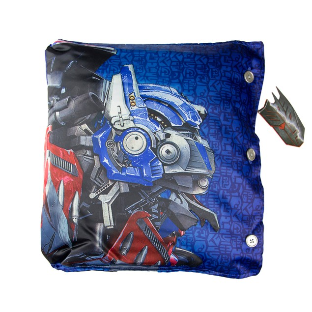 Four Sided Transformer Pillow with Cybertron Letters