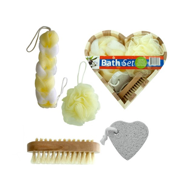 Heart Boxed Bath Gift Set