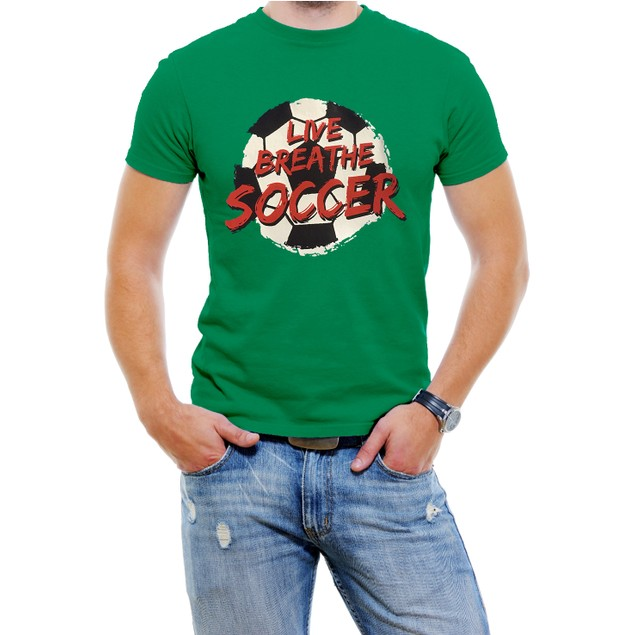 """Live Breathe Soccer"" Men's T-Shirt"