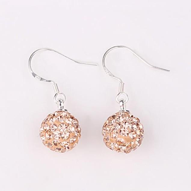 Vivid Light Austrian Stone Orange Citrine Drop Earrings - Light Orange