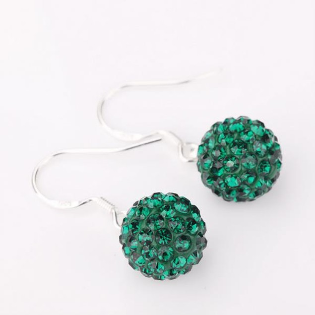 Vivid Royal Austrian Stone Drop Earrings