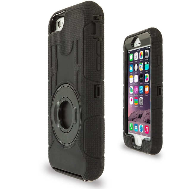 Apple iPhone 6 (4.7) Hybrid Heavy Duty Shockproof Armor Case Cover With Rotating Belt Clip Holster