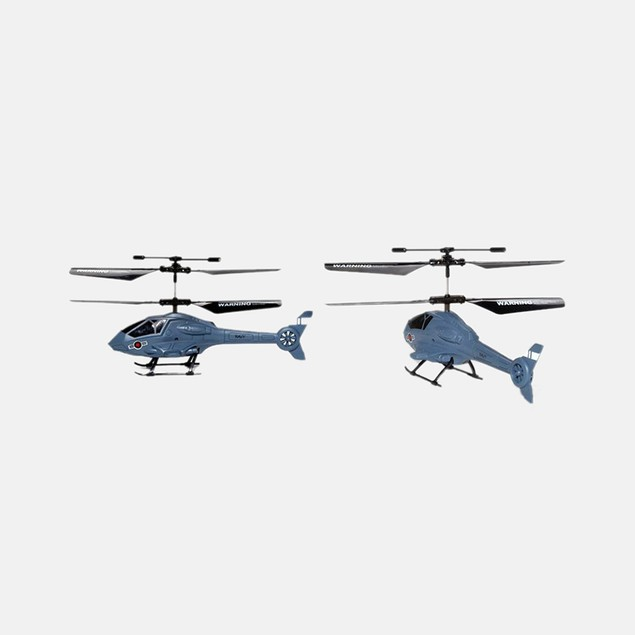 Apollo Navy Gray Micro 2CH IR RTF RC Helicopter