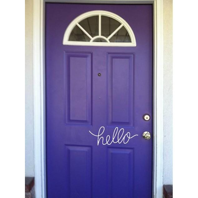 Hello Door Decal 1