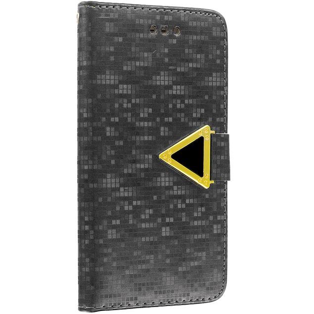 Apple iPhone 6 Plus (5.5) Luxury Wallet Diamond Pixels Design Case Cover With Slots