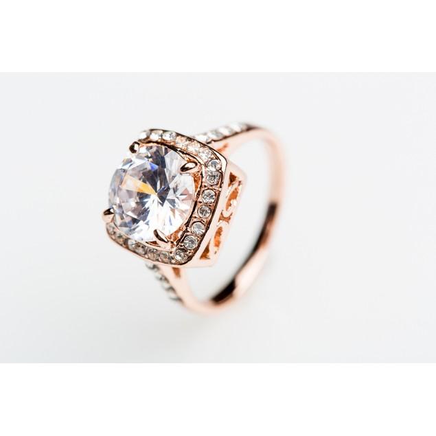 Rose Gold Tone Bling Ring