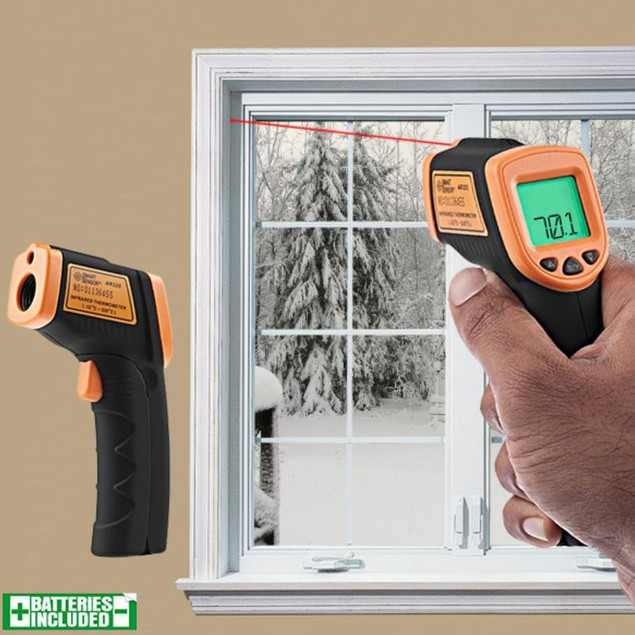 2-in-1 Tool: Thermal Leak Detector + Infrared Thermometer