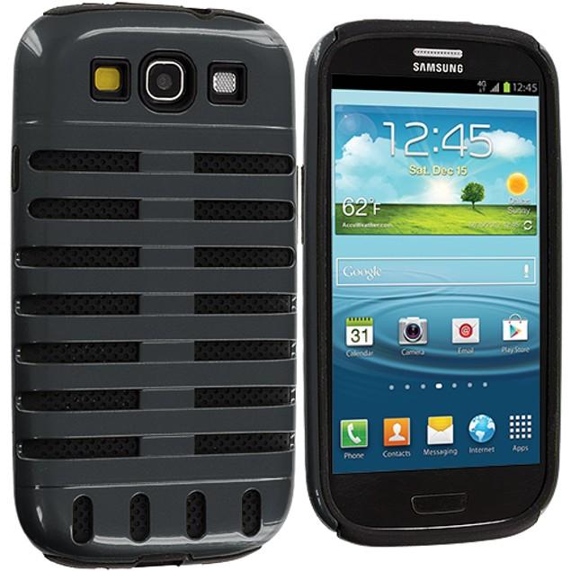 Samsung Galaxy S3 9300 Hybrid Ribs Hard Silicone Case Cover
