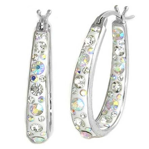 18K White-Gold-Plated Earrings