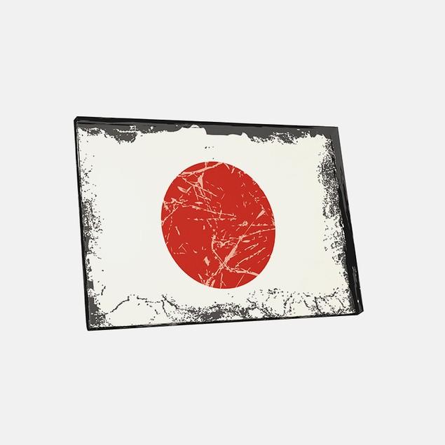 Vintage Japan Flag Canvas Print