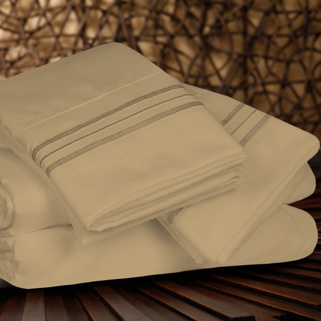 4 Piece Egyptian Quality Sheet Set - Deep Pockets