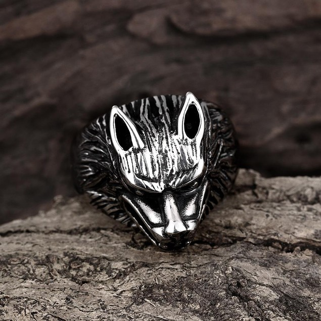 Killer Wolf Stainless Steel Ring