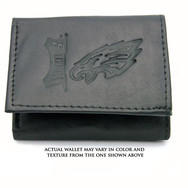 Philadelphia Eagles Genuine Leather Tri-Fold Wallet