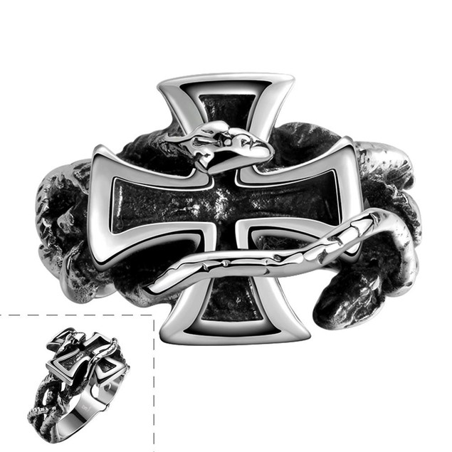 Christ's Cross Stainless Steel Ring