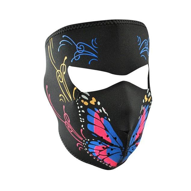 Butterfly Graphical Neoprene Full Face Mask
