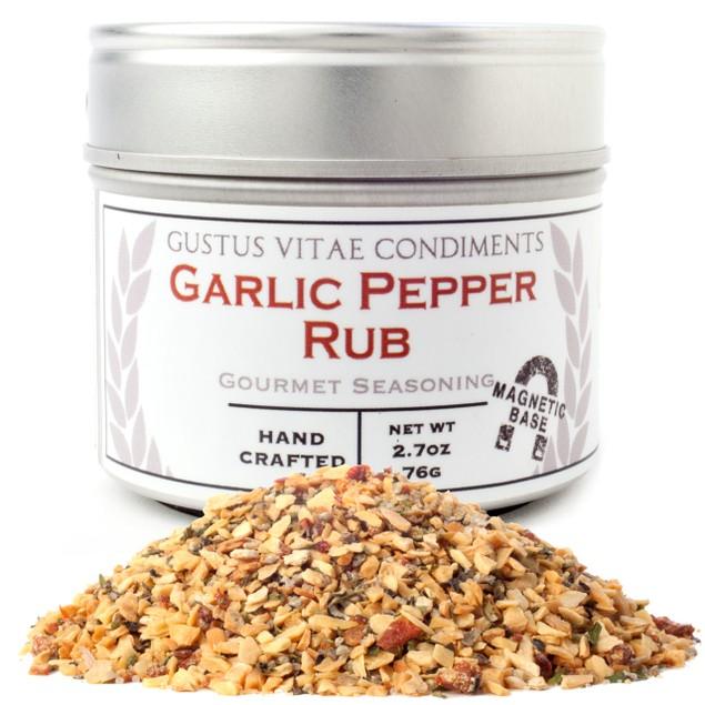 Garlic Pepper Rub Gourmet Seasoning