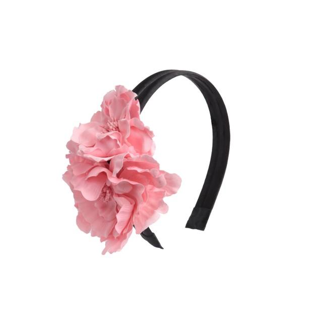 Coral Flowers Headband
