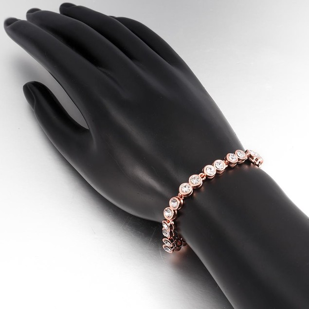 Around the World Rose Gold Plated Bracelet