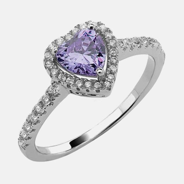 .925 Sterling Silver Birthstone Ring - June
