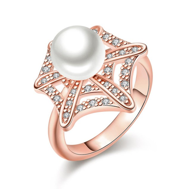Rose Gold Plated Pearl Infusion Ring