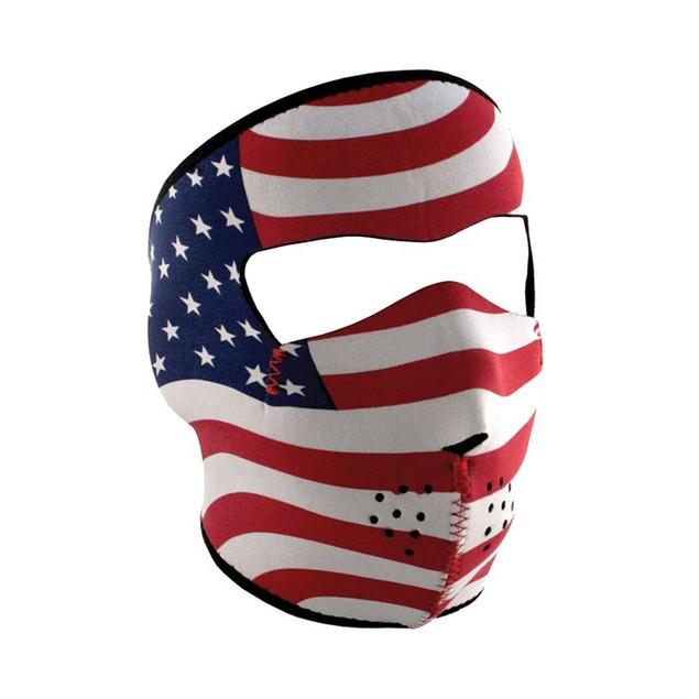 USA Flag, Stars & Stripes Graphical Neoprene Full Face Mask
