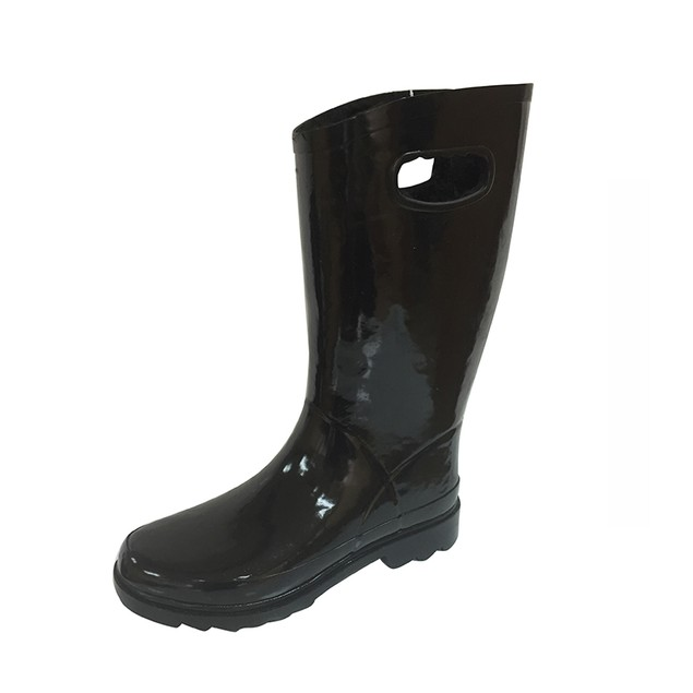 Forever Young Women's Tall Rubber Rain Boots with Faux Fur Lining