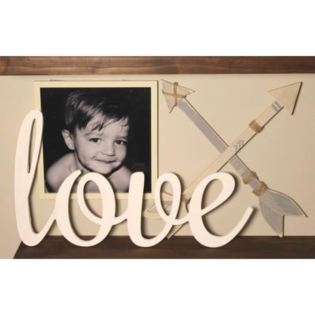 "23"" Oversized Cursive Love Unfinished Wood Sign"