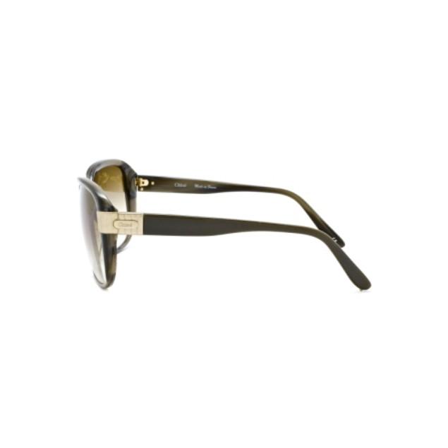 Chloe Sally Fashion Sunglasses - Green Horn
